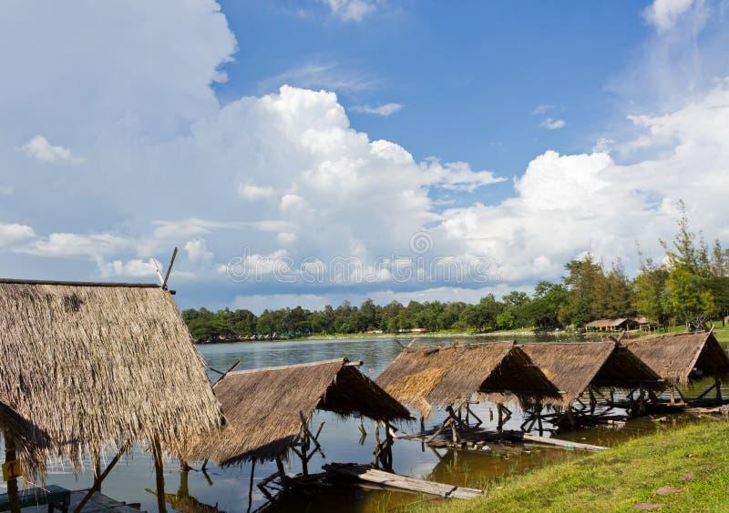 Download Damage Huts stock image. Image of lake, straw, travel - 26631217