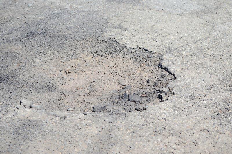 Damage road. Close up Damage road background royalty free stock photo