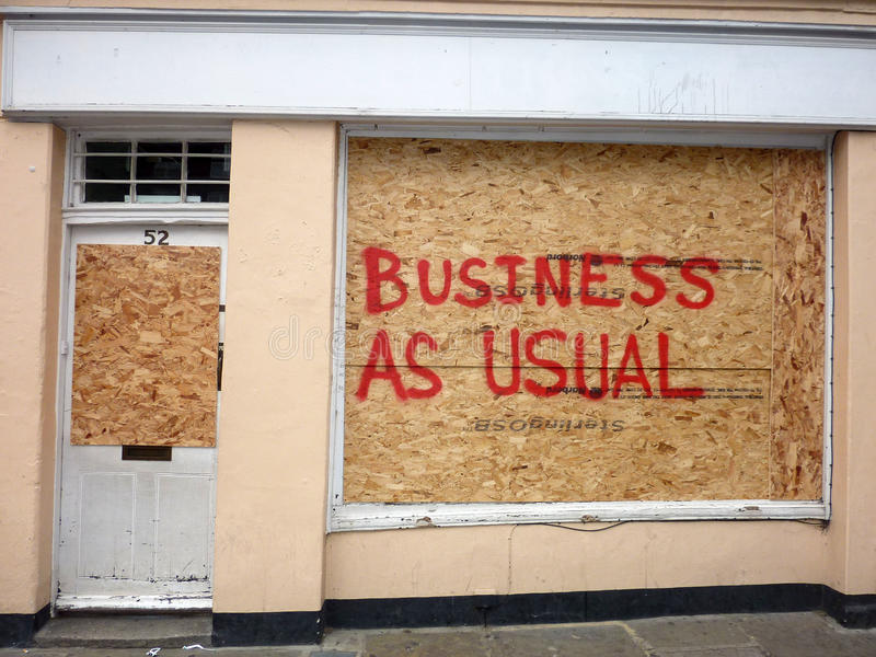 Damage To The Shops In Greenwich Editorial Photography