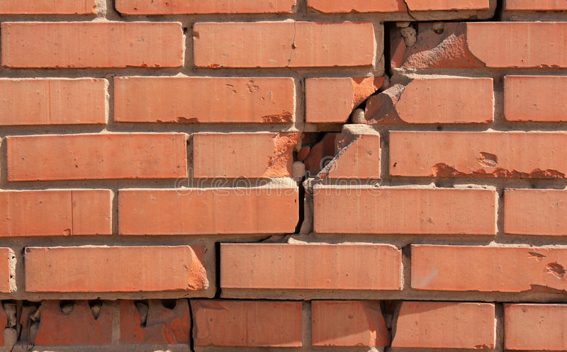 Download Damaged brick wall stock photo. Image of damaged, nobody - 12175148