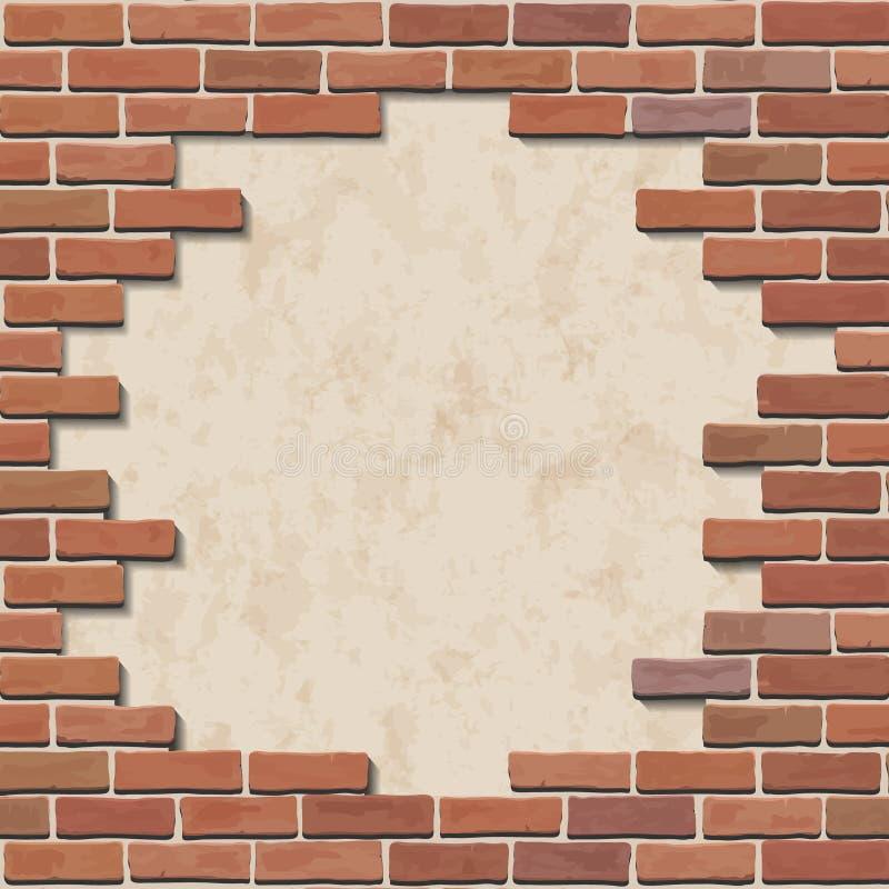 Download Damaged Brick Wall Stock Vector Illustration Of Broken