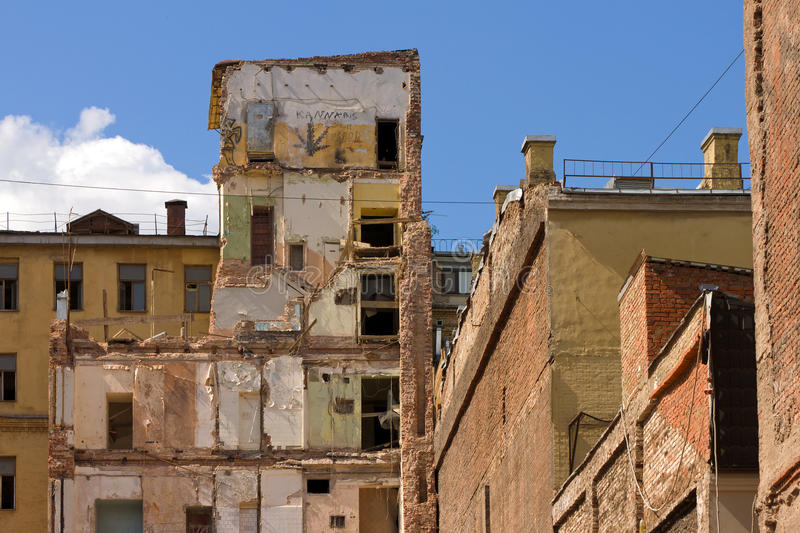 Damaged building royalty free stock images