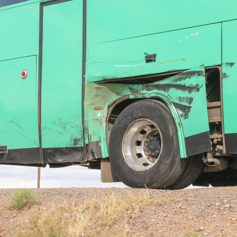 Download Damaged bus in morocco stock photo. Image of flashing - 32670122