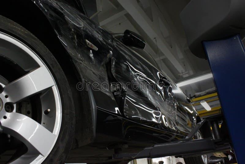 Download Damaged car stock image. Image of crash, black, transport - 19069141