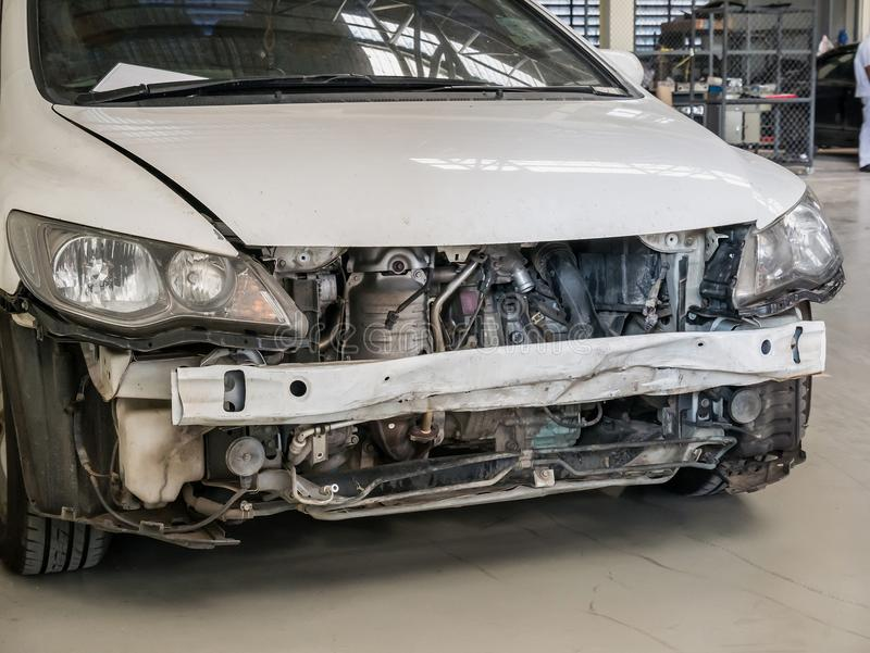 Damaged Car Waiting For Repai Stock Photo - Image of ...
