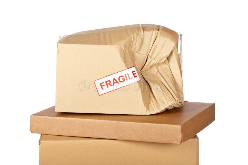 Download Damaged Cardboard Box Royalty Free Stock Photo - Image: 9802635