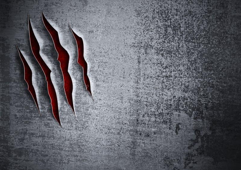 Download Damaged Grunge Metal Wall Concept Stock Illustration - Illustration: 22226424