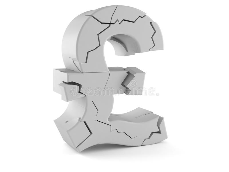 Damaged Pound Currency Symbol Stock Illustration Illustration Of