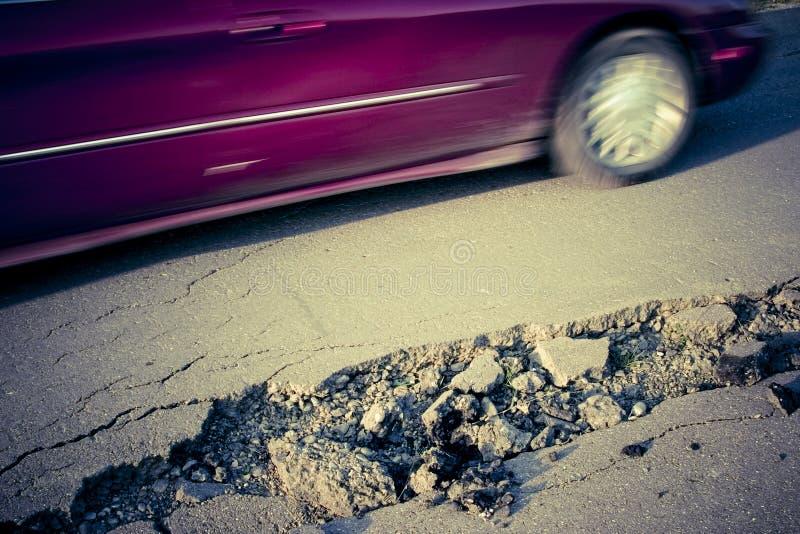 Damaged Road Stock Photo