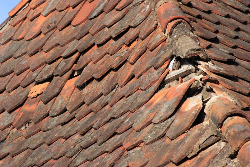 Damaged roof stock photography