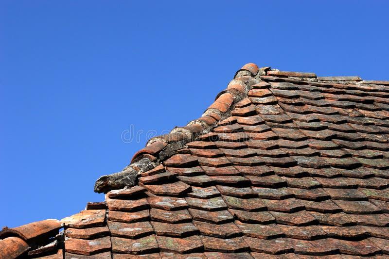 Damaged roof royalty free stock image