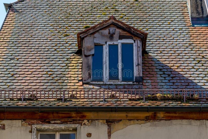 Damaged roof royalty free stock photo
