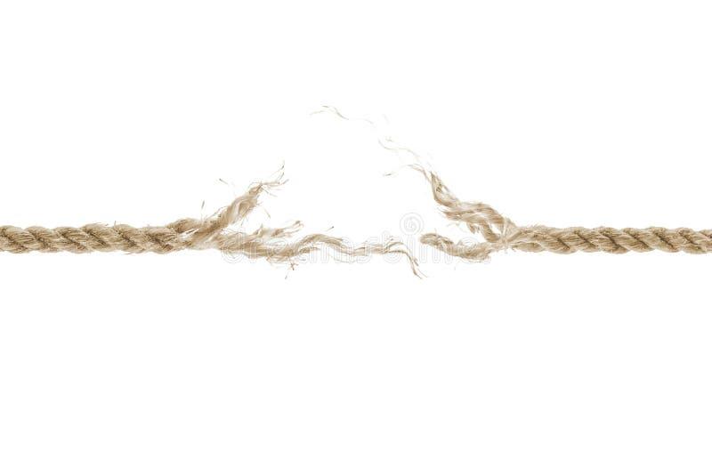 Damaged rope stock photography
