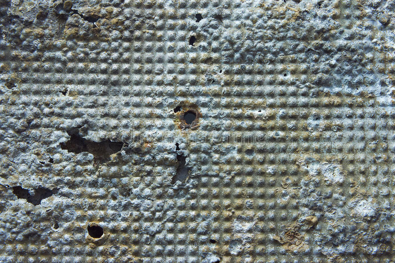 Damaged And Rusted Metal Panels Texture From Yak-9 Royalty Free Stock Photography