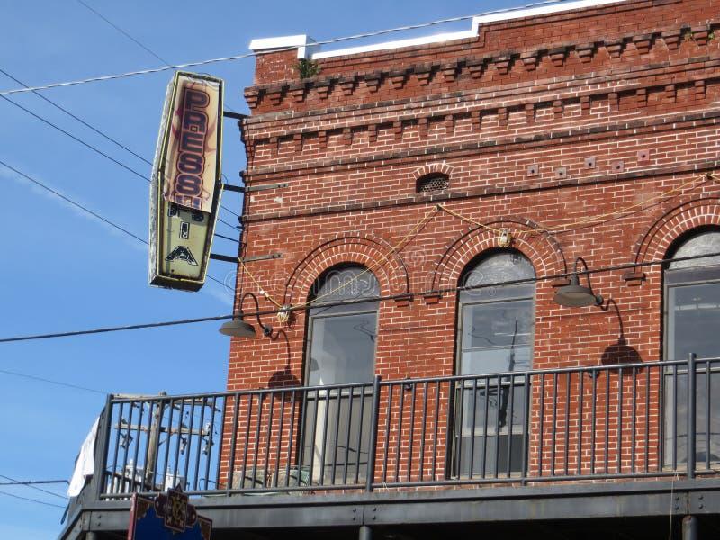 Red brick building, Ybor City, Tampa stock photos
