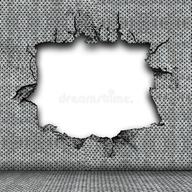 Damaged Steel Plate Stock Image