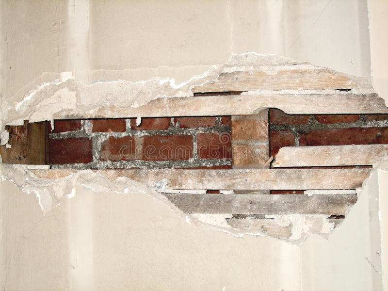 Download Damaged wall stock photo. Image of room, wall, exposed - 12451778