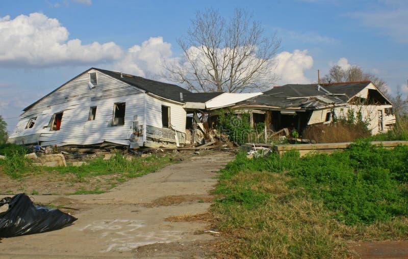 damange huraganowy Katrina ninth oddział zdjęcia royalty free