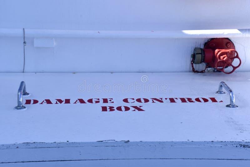 Damange kontrolny pudełko na statek obraz stock