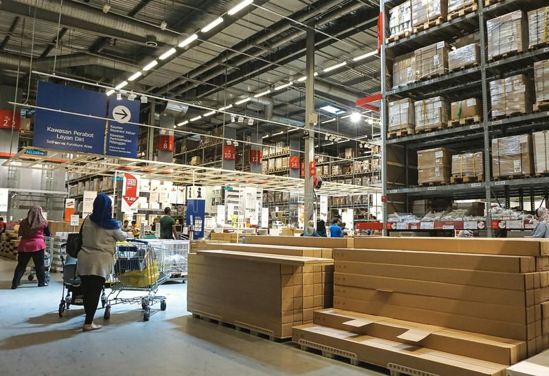 Damansara, Малайзия - 1-ое мая 2019: Внутренний взгляд магазина IKEA Damansara в Малайзии стоковая фотография