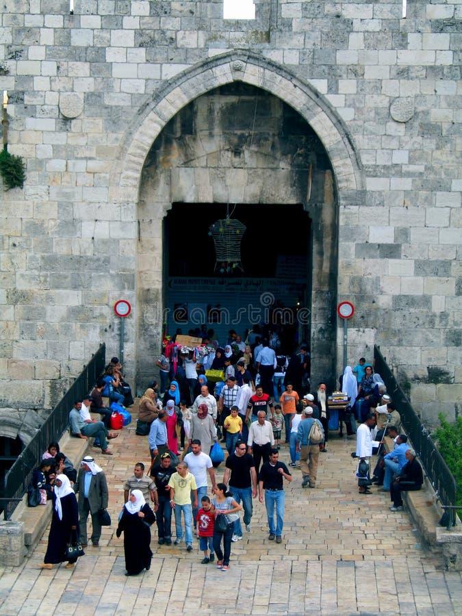 damascus стробирует Иерусалим стоковое изображение