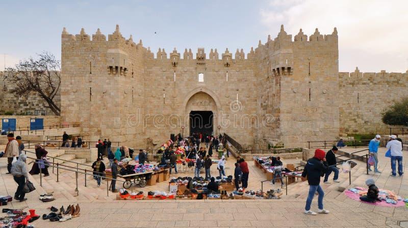 Download Damascus Gate editorial image. Image of jerusalem, cityscape - 25935305