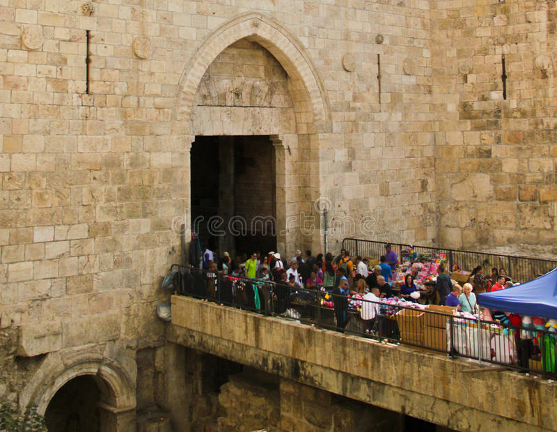 Download Damascus Gates editorial photography. Image of palestine - 27893652