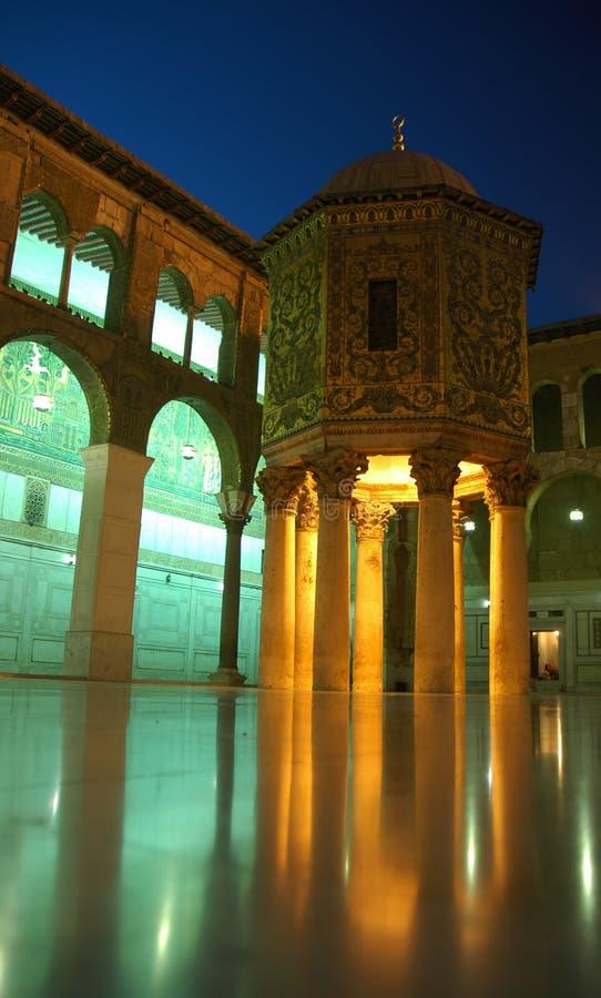 damascus moskéumayyad royaltyfri fotografi