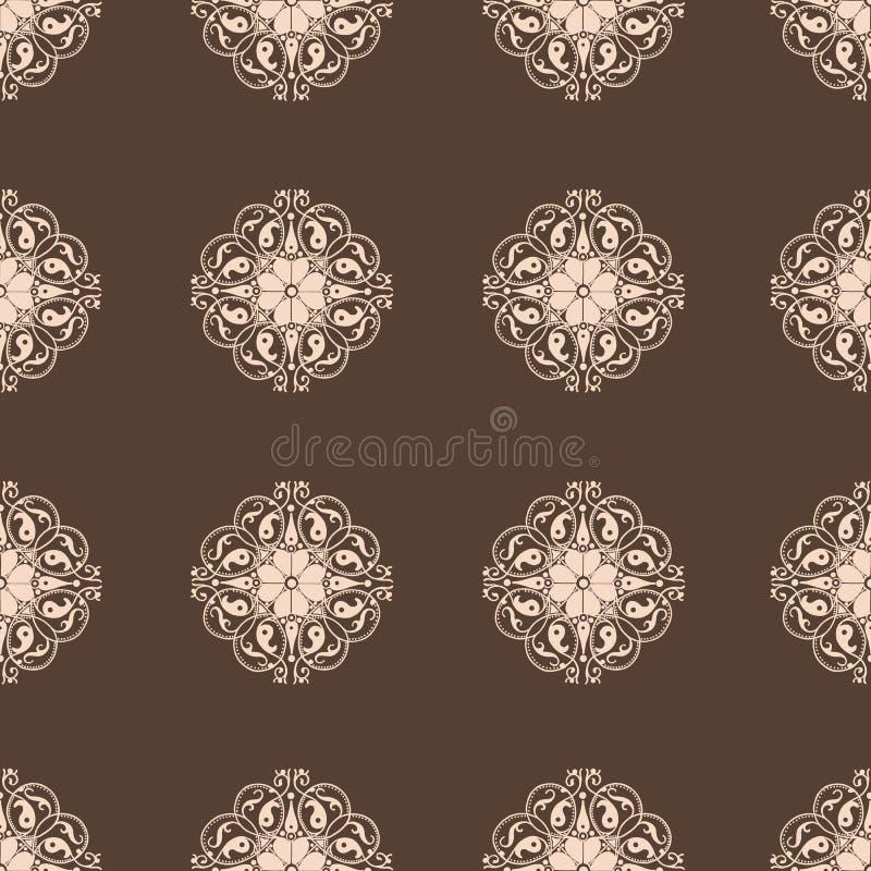 damask άνευ ραφής ταπετσαρία Εκλεκτής ποιότητας διανυσματικό σύνολο σχεδίων ελεύθερη απεικόνιση δικαιώματος