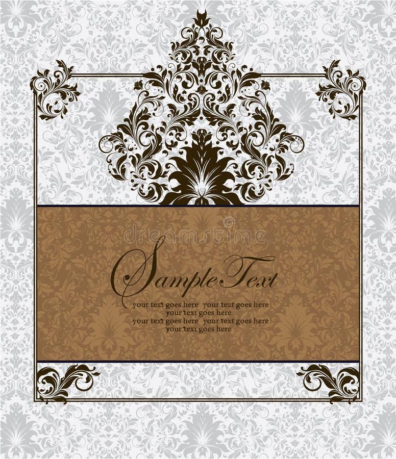 damask καρτών πρόσκληση ελεύθερη απεικόνιση δικαιώματος