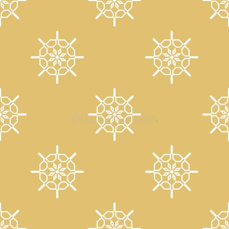 Damask κομψό άνευ ραφής σχέδιο Διανυσματική ανασκόπηση Άσπρα και χρυσά χρώματα ποτών απεικόνισης διανυσματικό τύλιγμα θέματος εγγ απεικόνιση αποθεμάτων