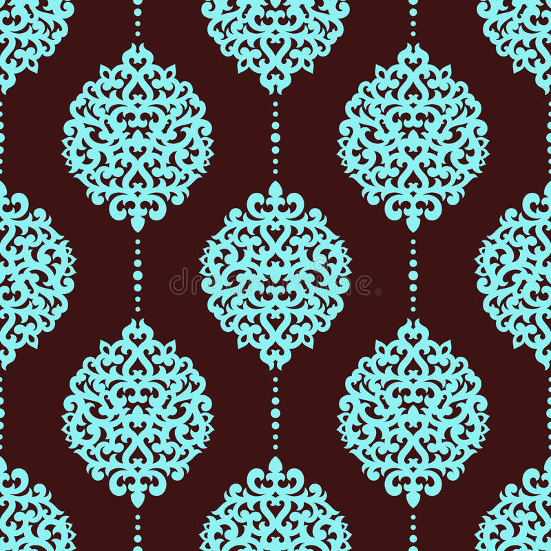 damask πρότυπο άνευ ραφής ελεύθερη απεικόνιση δικαιώματος