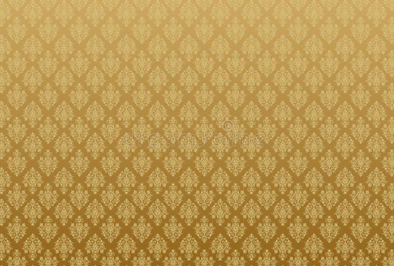 damask τρύγος προτύπων απεικόνιση αποθεμάτων