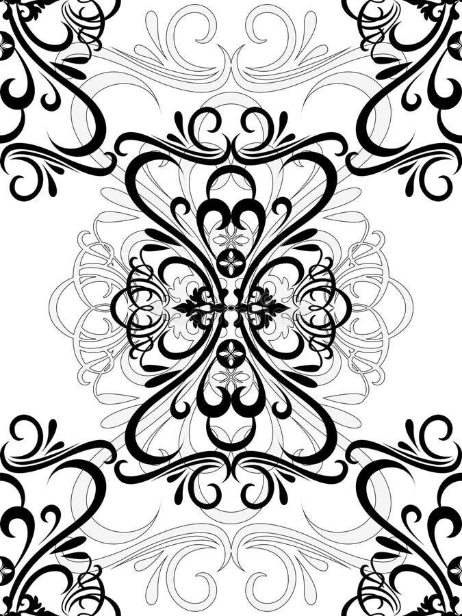 damask τρύγος διανυσματική απεικόνιση