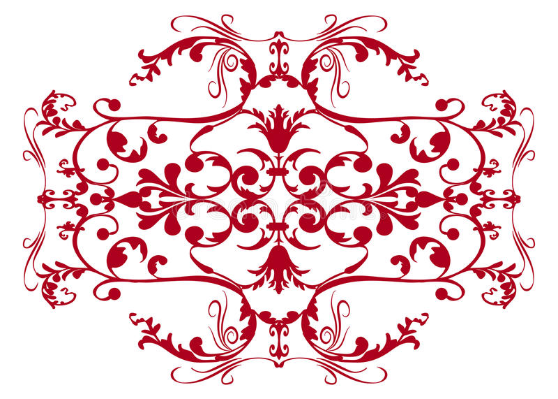 damask engagement wedding иллюстрация вектора