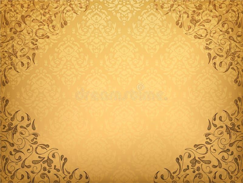 Download Damask floral background stock illustration. Image of illustration - 25182555