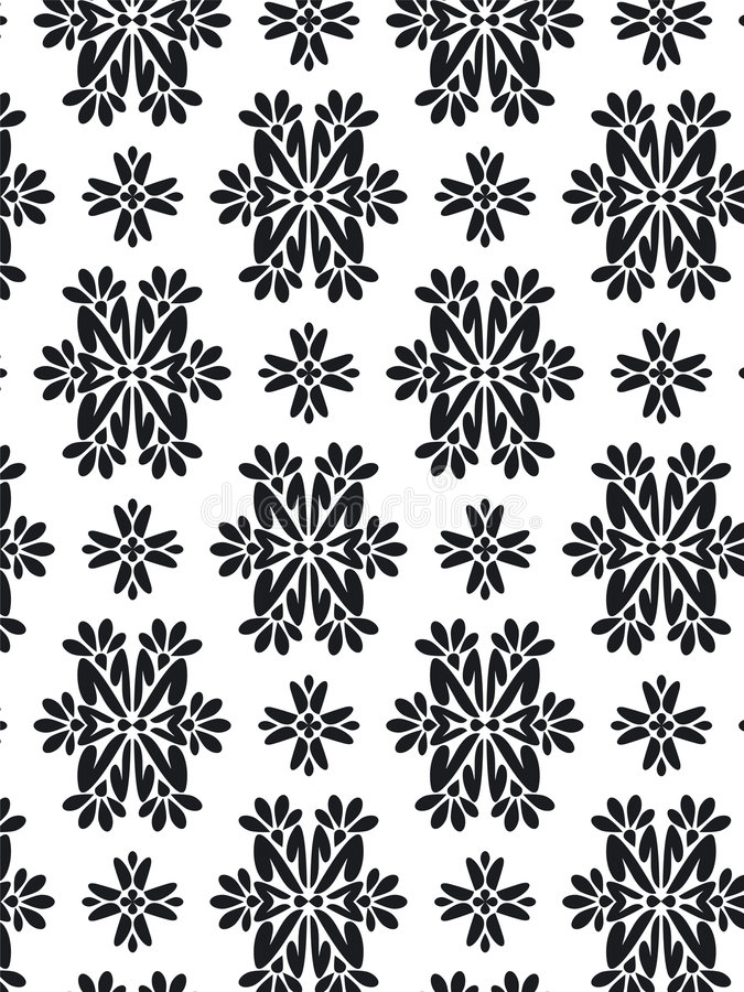 Damask foliage Pattern royalty free stock images