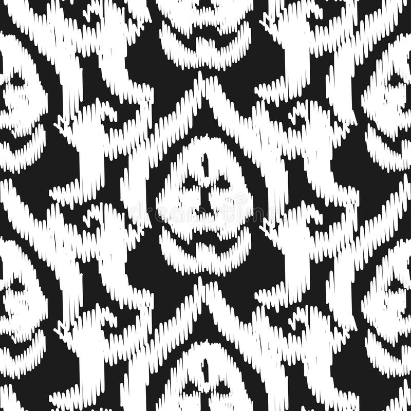 Download Damask Ikat Seamless Vector Wallpaper Pattern Stock