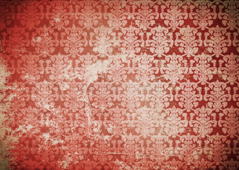 Damask paper. Vintage old damask paper for background royalty free stock photo