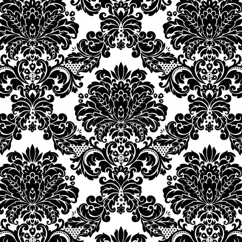 Download Damask pattern stock vector. Image of decor, elements - 11621722