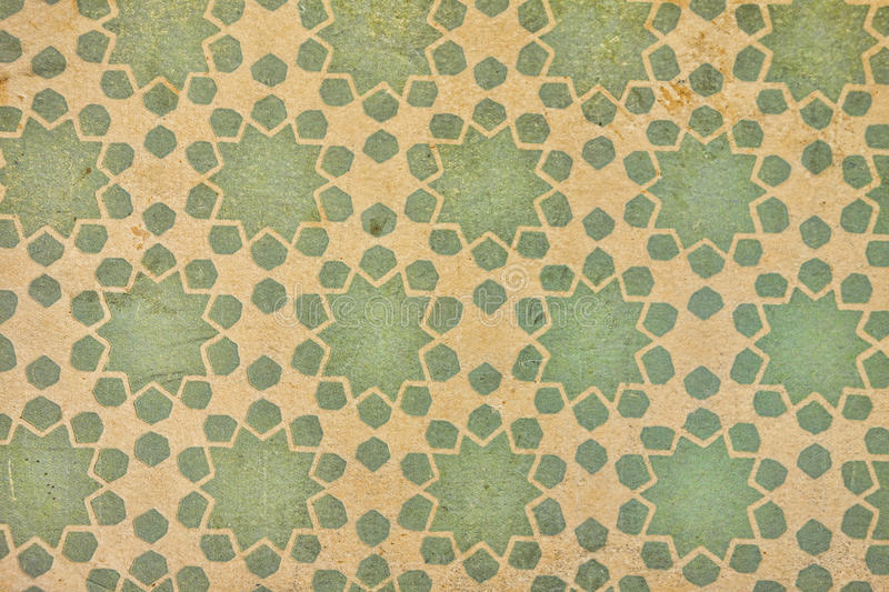 Damask pattern old paper stock photography