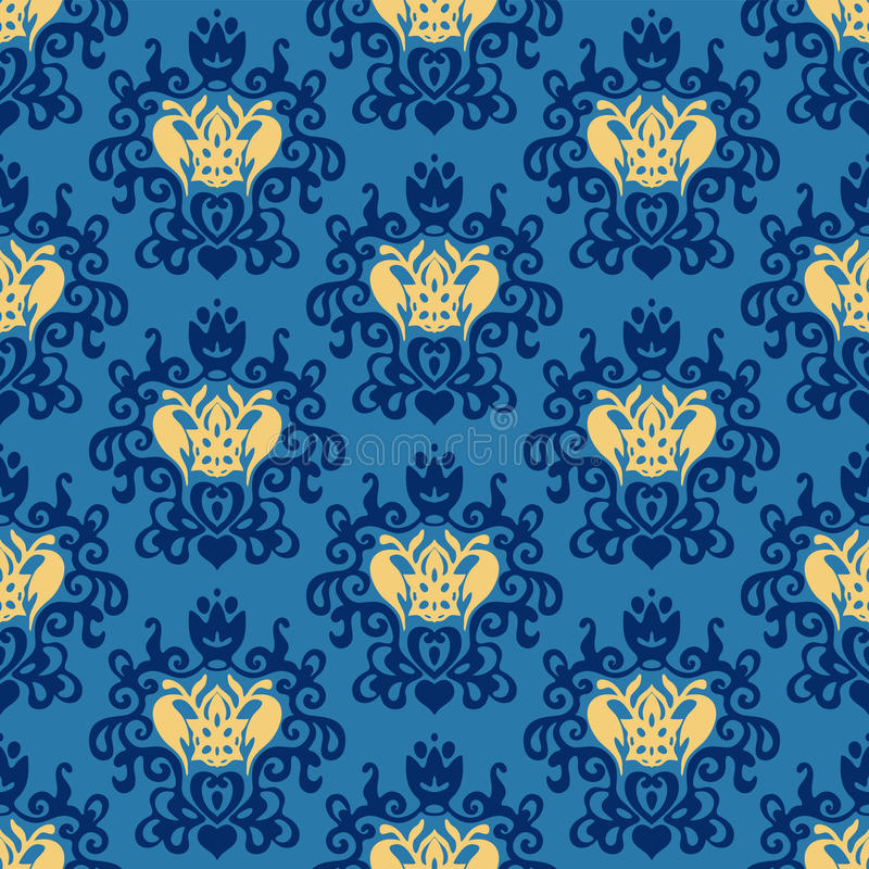 Download Damask Royal Seamless Patter Vector Royalty Free Stock Photos - Image: 36581768