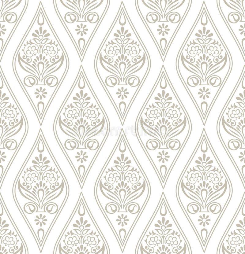 Damask Royal Wallpaper vector illustration