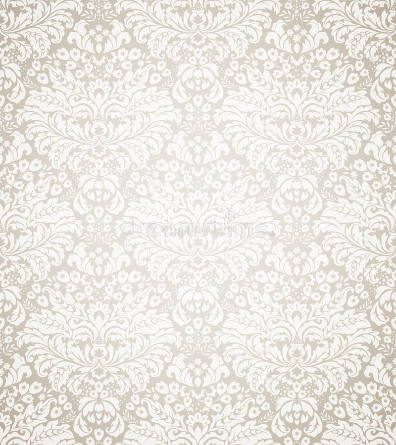 Damask seamless floral pattern stock illustration