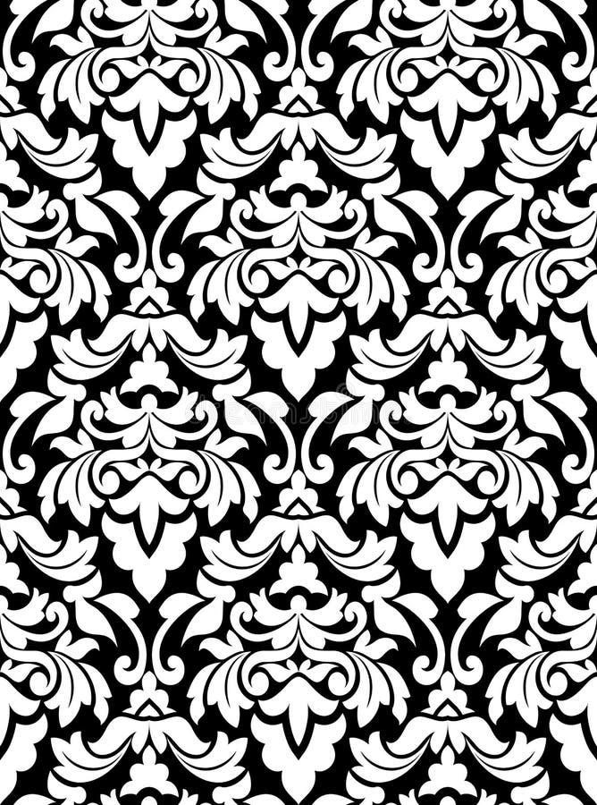 Damask seamless pattern stock illustration