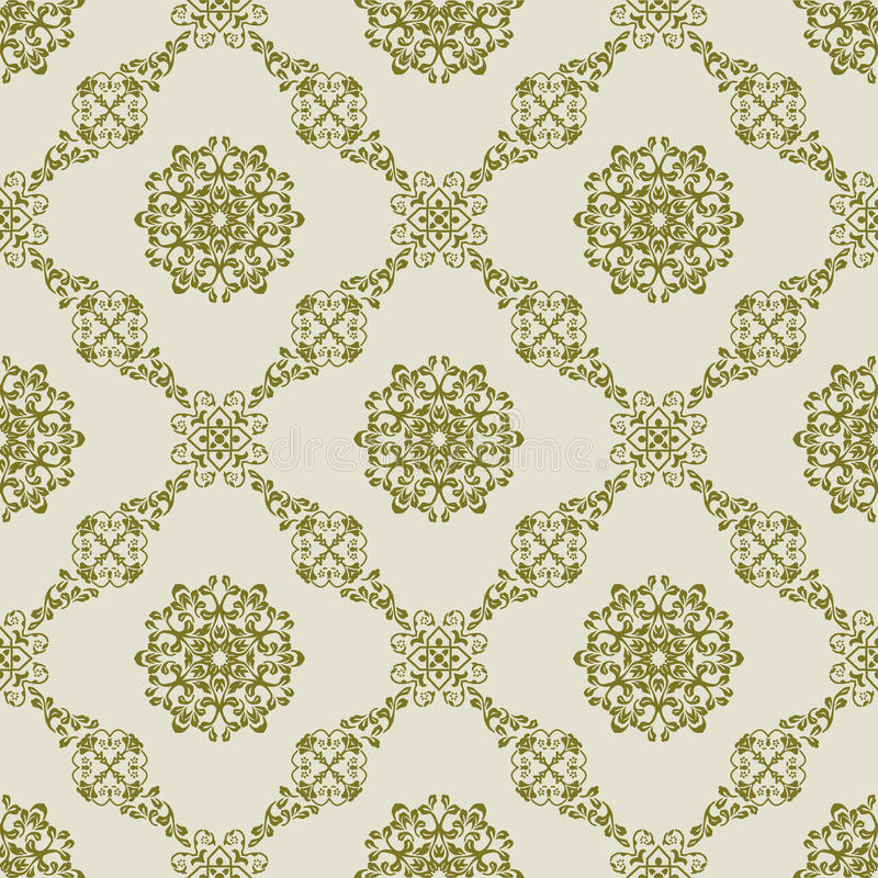Damask in Seamless Pattern stock photography