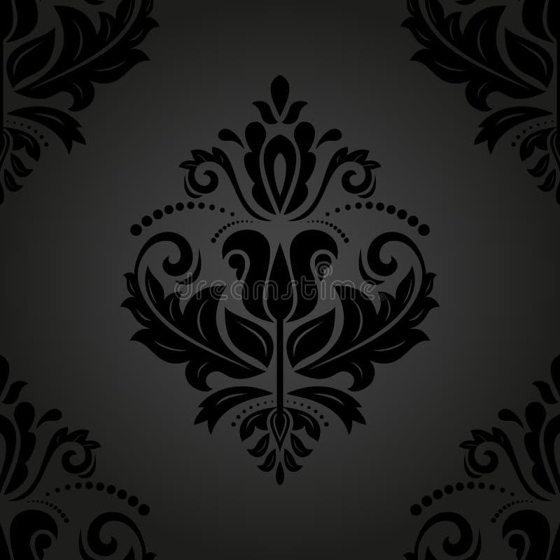 Damask Seamless Pattern. Abstract Background stock illustration