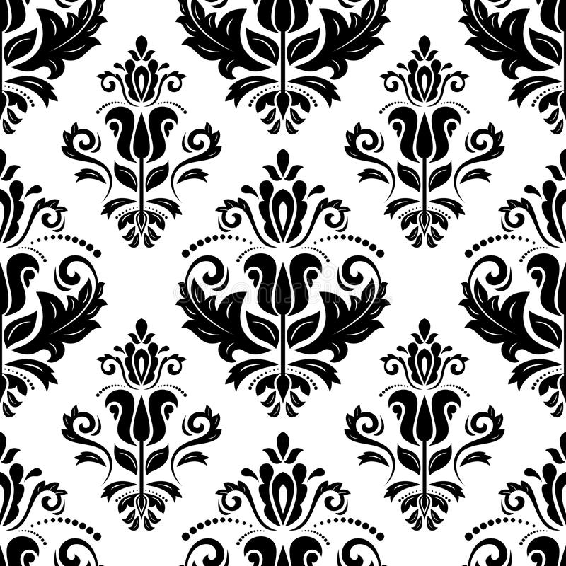 Damask Seamless Pattern. Abstract Background Stock Vector