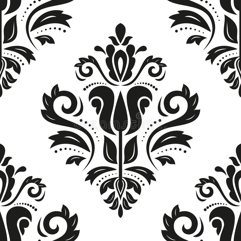 Download Damask Seamless Pattern. Abstract Background Stock Vector - Illustration: 43202154