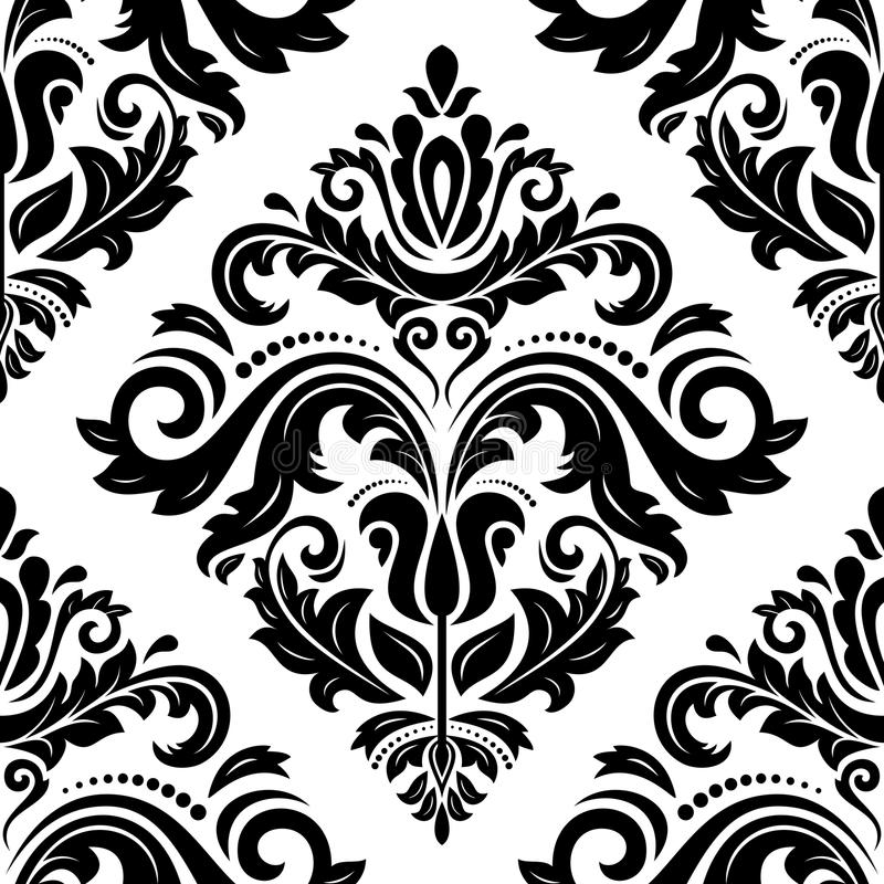 Download Damask Seamless Pattern. Abstract Background Stock Vector - Illustration: 43202186
